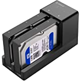 ORICO USB 3.0 to SATA Dual Bay External Hard Drive Docking Station Enclosure for 2.5 or 3.5 in HDD SSD with Offline Clone/Dup