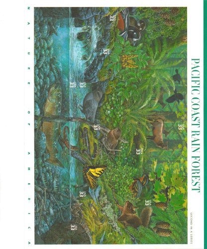 Pacific Coast Rain Forest (Nature of America), Full Sheet of 10 x 33-Cent Postage Stamps, USA 2000, Scott 3378 ()