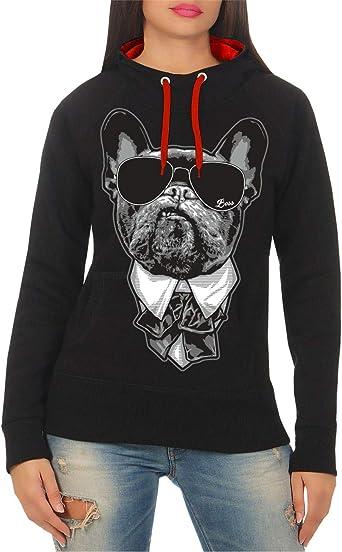 Kobiety i damski sweter z kapturem French Bulldog Chef: Odzież