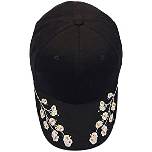 ESAILQ Women Flower Embroidery Cotton Baseball Caps Snapback Caps Hip Hop Hats One size, Pink