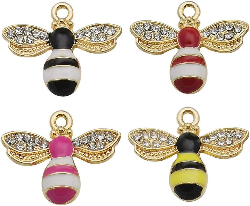 WOCRAFT 24 Pcs Assorted Gold New Tiny Acrylic Butterfly Charms for Jewelry Making Necklace Bracelet Earring M467
