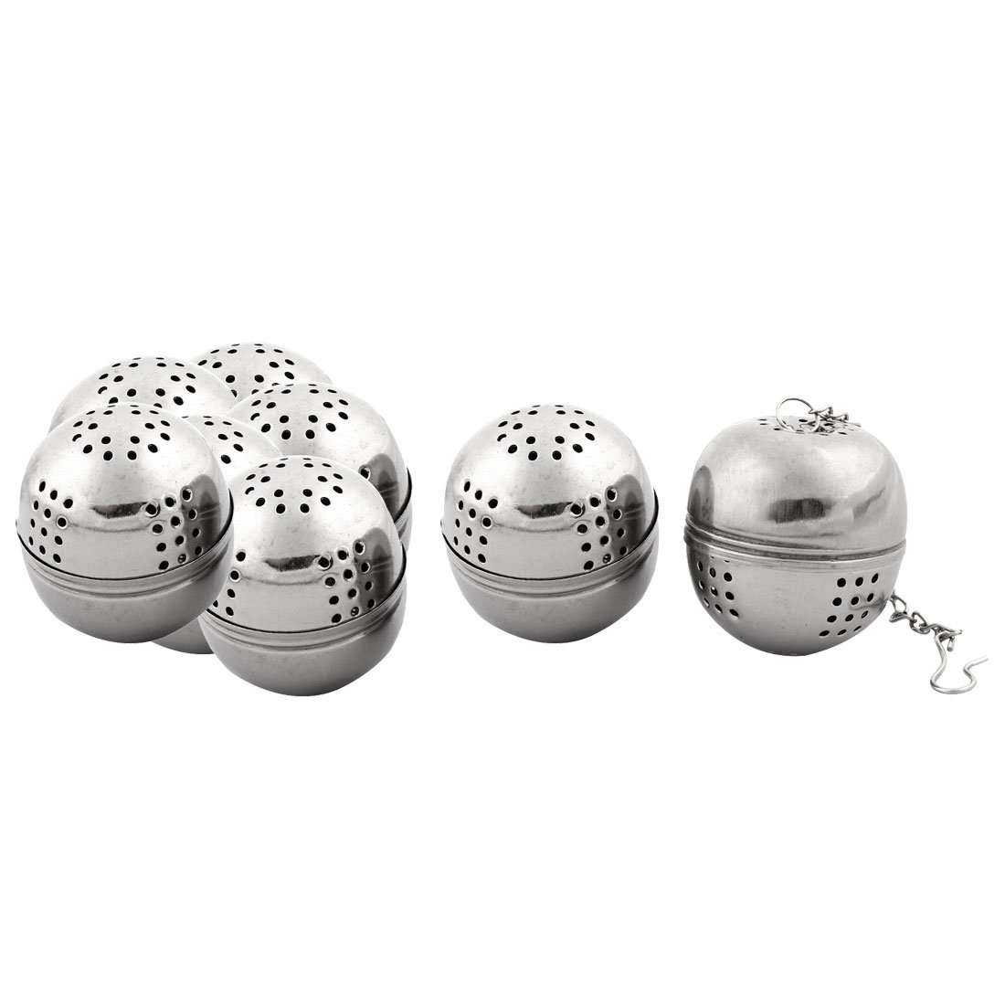 OKSLO Stainless steel leaf tea spice perfume infuser strainer ball 4cm dia 8 pcs