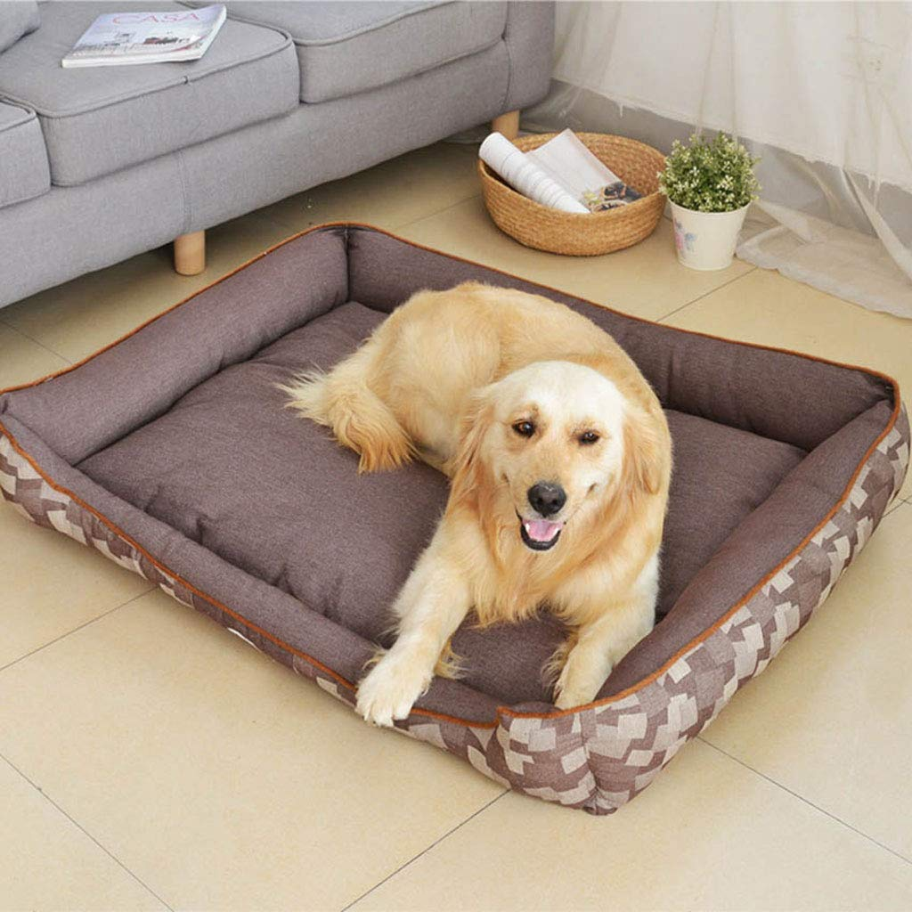 Makan Dog Bedsofa-style Pet Bedwarm And Comfortable All Seasons. (color   Coffee, Size   M)