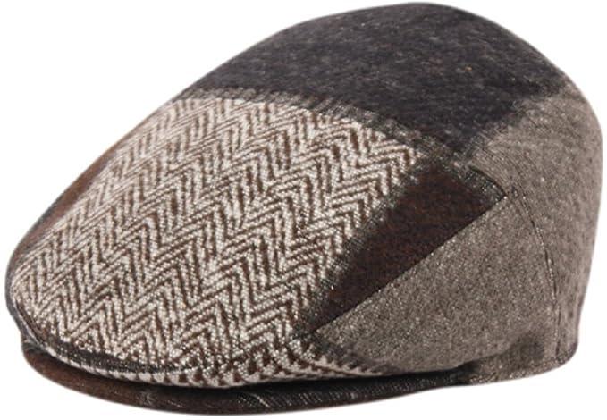 45585ce66d Epoch hats Men's Premium Wool Blend Classic Flat IVY newsboy Collection Hat