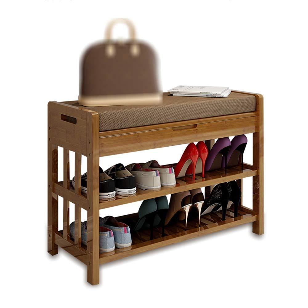 EIDUOシューズラック 靴ラック、チェンジシューベンチ - 防塵靴キャビネット - ソリッドウッド/ドアマルチファンクションロッカー 自宅に適しています (色 : With storage-70cm) B07KQTD4XZ With storage-70cm