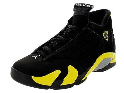 jordan retro 14 for men black and yellow