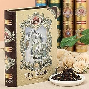 Basilur   Gift Tea Set   Tea Book -Vol 2   Collectable Metal Tin Caddy   Pure Ceylon Black Tea with fruits  100g /3.52 oz.