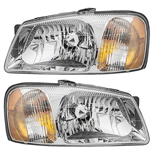 (Driver and Passenger Headlights Headlamps Replacement for Hyundai 92101-25050 92102-25050)