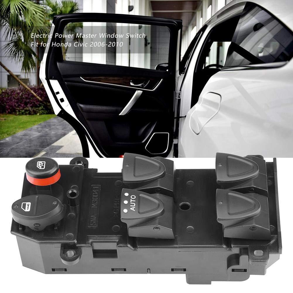 1 PC de commutateur de commande de vitre principal c/ôt/é conducteur gauche pour Honda Civic 2006-2010 35750-SNV-H51. Commutateur de vitre