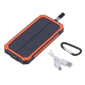 niceao 50000 mAh portátil solar power bank batería externa portable Cargador Solar SOS camping batería doble USB Puerto con luz LED para actividades ...