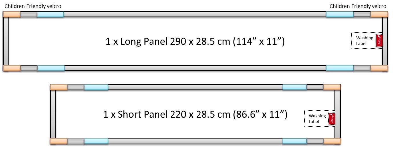 Cubierta transpirable de 4 caras, doble capa para acolchado ...