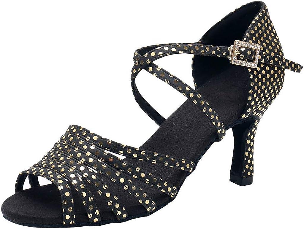 Respctful✿Ballroom Salsa Latin Dance for Kids Girl Females Ballroom Salsa Dance Sparkly Latin Shoes