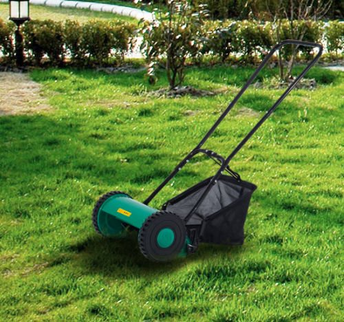 lawn-mower-hand-push-height-adjustable-classic-reel-mower-grass-catcher-5-blade