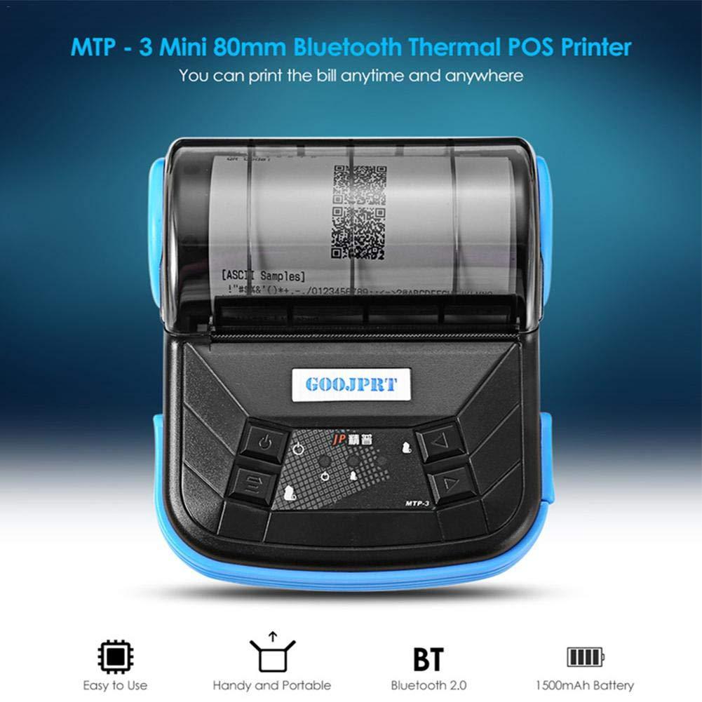 True-Ying - Mini impresora térmica inalámbrica – 80 mm portátil ...