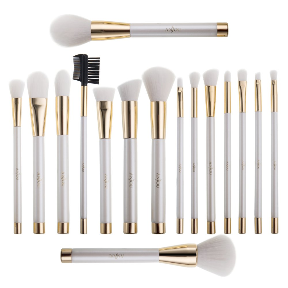 16 Pcs Makeup Brush Set, Cosmetic Brushes for Foundation Blending Blush Concealer Eye Shadow