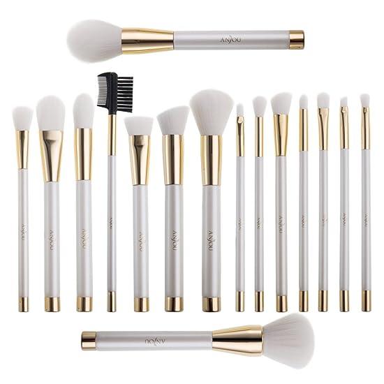 16 Pcs Makeup Brush Set, Cosmetic Brushes for Foundation Blending Blush Concealer Eye Shadow