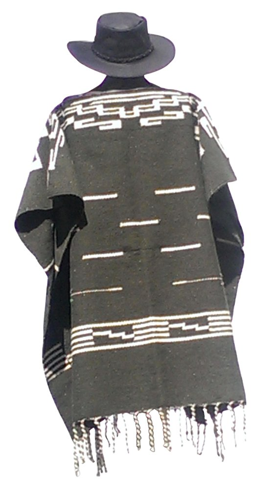 Clint Eastwood Spaghetti Western Original Pattern 100% Wool Poncho w Leather Hat by Sharpshooter (Image #3)