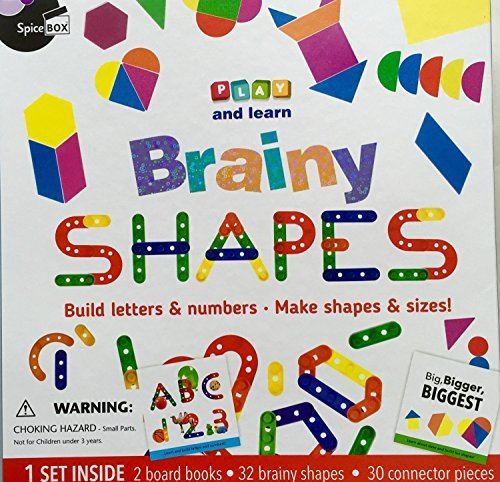 IHG Play and Lean, Brainy SHAPES, Build Letters & Numbers. Make Shapes & Sizes