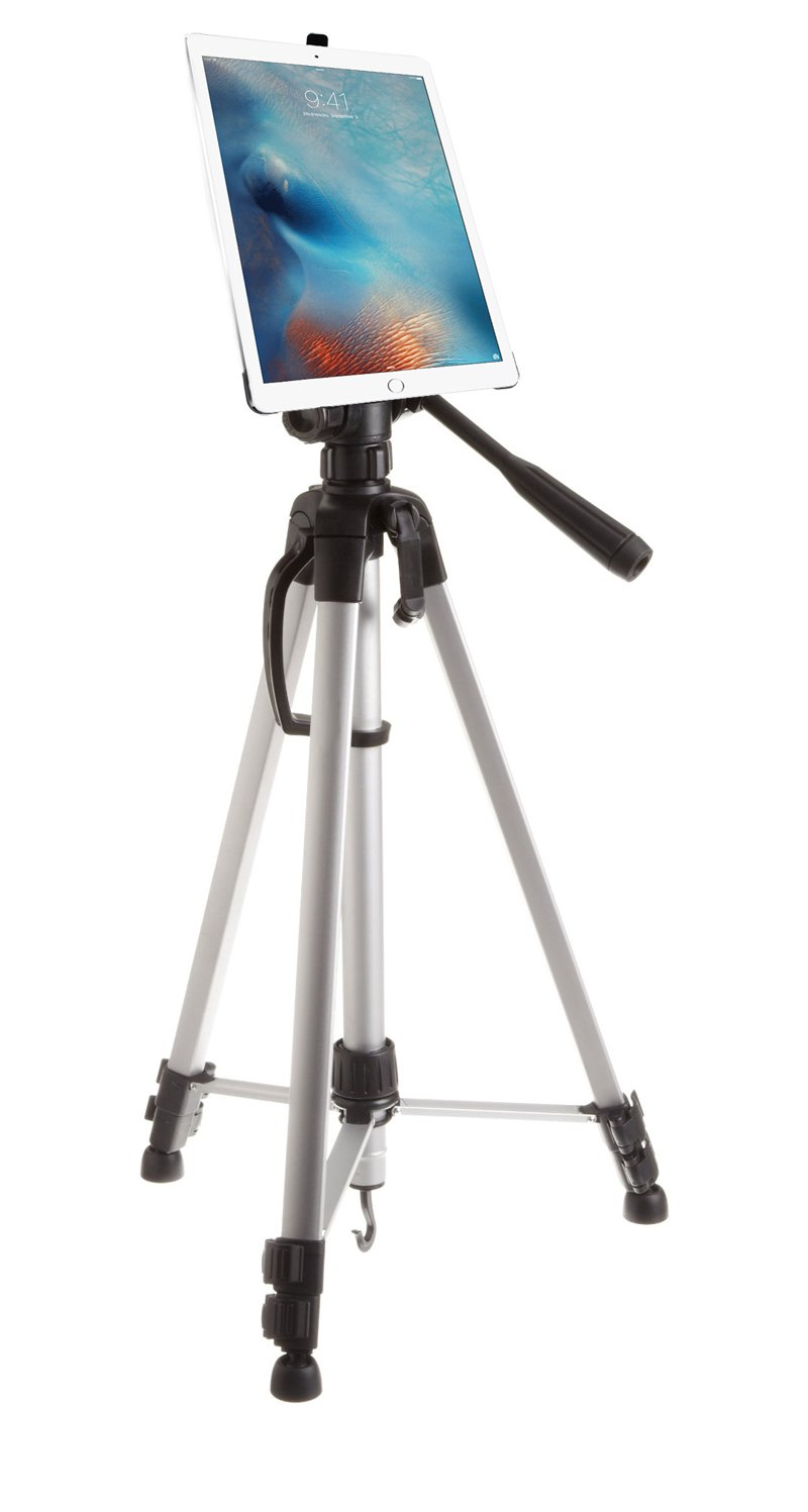 G8 Pro iPad Mini 1 2 3 Tripod Mount + 60'' HD Pan Head Professional Camera Tripod w/Bag - Holder Adapter Attachment is Great for Musicians, Video, Photo, Coaches, Golf, Schools, Teachers and More