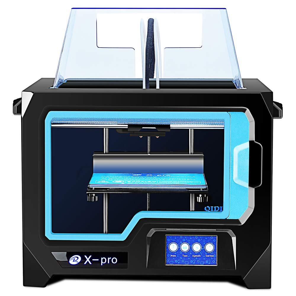 Qidi Tech 3D Printer, New Model: X-pro, 4.3 Inch Touchscreen, Dual Extruder with 2 Spool of Filament,Works with ABS and PLA WENZHOU XINDI New Material Technology Co. Ltd XPRO