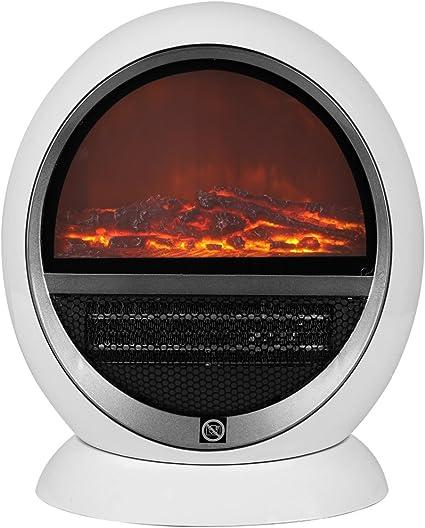 Deuba Termoventilador radiador 2 niveles de calor 850W 1500W chimenea con calefacción 35x31x18cm termperatura ajustable: Amazon.es: Iluminación