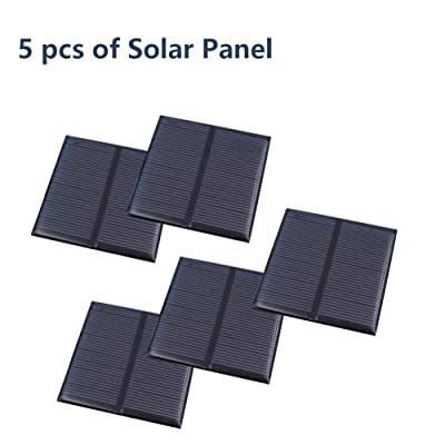 Treedix 5pcs 5.5V 0.6W Polysilicon Solar Panel Glue Solar Cell Battery Charger DIY Solar Product Mini Small Solar Panel Module Kit Polycrystalline Silicon Encapsulated in Waterproof Resin (0.6W) : Garden & Outdoor