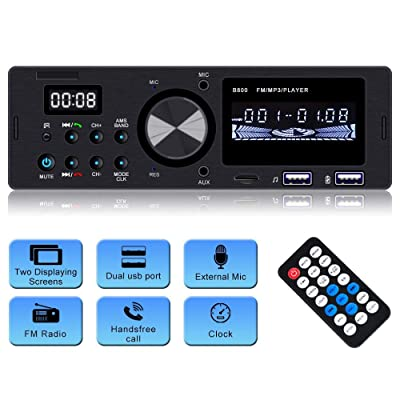Car Stereo with Bluetooth Single din Car Radio Car MP3 Player Wireless Remote Car Audio Support USB/sd/aux-in: Electronics