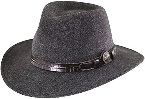 Collingsworth Mens Hat Gray Australian Wool UPF50 Outback Trading Co