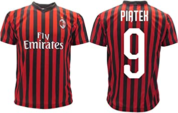 3R SPORT SRL Camiseta Piatek 9 Milan Réplica Autorizada 2019-2020 ...