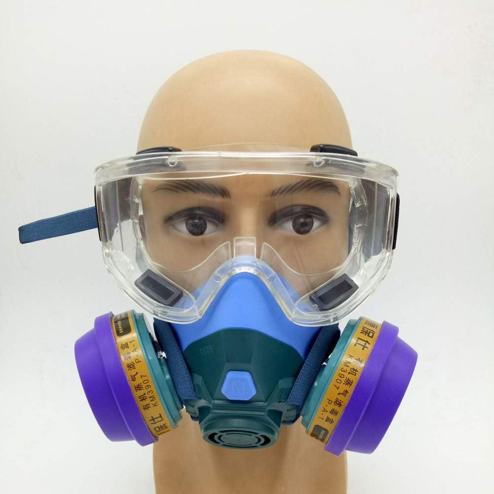SHENXX Protección Respiratoria De Máscara Completa, con Gafas, A Prueba De Gas, Especial para La Protección De La Seguridad Pública.