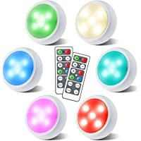 Wireless LED Puck Light, OxyLED RGB Color Changing LED Under Cabinet Lighting Closet Light Battery Powered Night Lights…