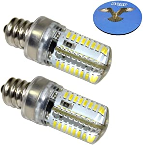 HQRP 2-Pack E12 Candelabra Base LED Bulb Warm White AC 110V for GE General Electric WE4M305 Dryer Light Bulb Replacement Plus HQRP Coaster