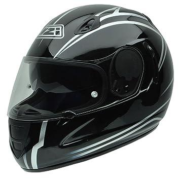 NZI 010264G728 Premium S Graphics SV Profile Casco de Moto, Blanco y Negro, Talla