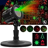 Christmas Light Projector Outdoor - Tunnkit 2017 New Design Christmas Waterproof Outdoor Light Projector, Star Night Light Projector Stage Lighting For Christmas Halloween Party Birthday Holiday Home Decoration including 5 Color Conversion Lighting Patterns, 4 Timing Patterns, 1 Remote-controller, Heavy-Duty
