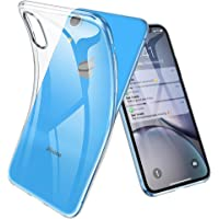 Joyguard Coque iPhone XR, Ultra Mince Premium TPU Souple Silicone Plating Coquille [Crystal Clear] [Poids léger] [Shock-Absorption] Etui Case Cover pour iPhone XR - 6.1pouces - Transparent