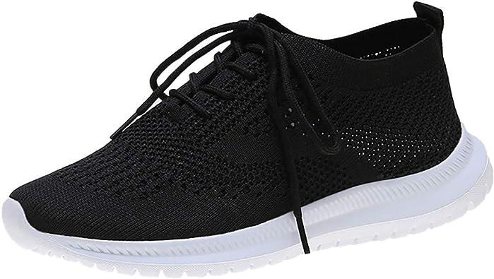 WINLISTING Zapatillas Deportivas de Mujer Air Cordones Malla Zapatos de Ligero Running Fitness Zapatillas de para Correr Antideslizantes Amortiguación Sneakers EU 36-41: Amazon.es: Zapatos y complementos