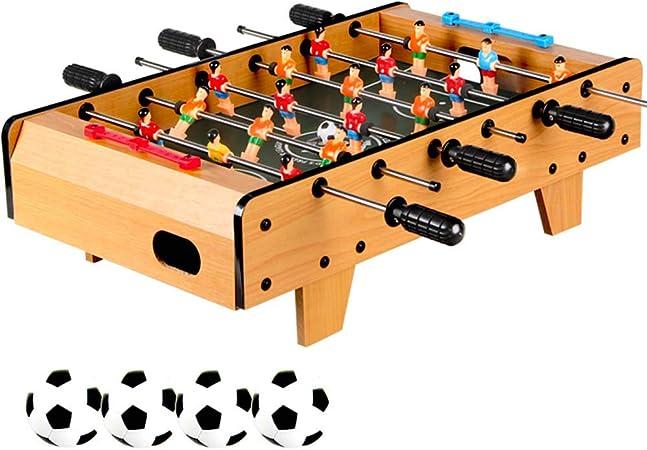 Juego de futbolín, Mesa de fútbol de 6 filas divertidas con patas de fútbol, Regalos de juegos de fútbol para interiores y exteriores para niños, adolescentes y adultos. Aspecto de madera-45x50x18cm: Amazon.es: