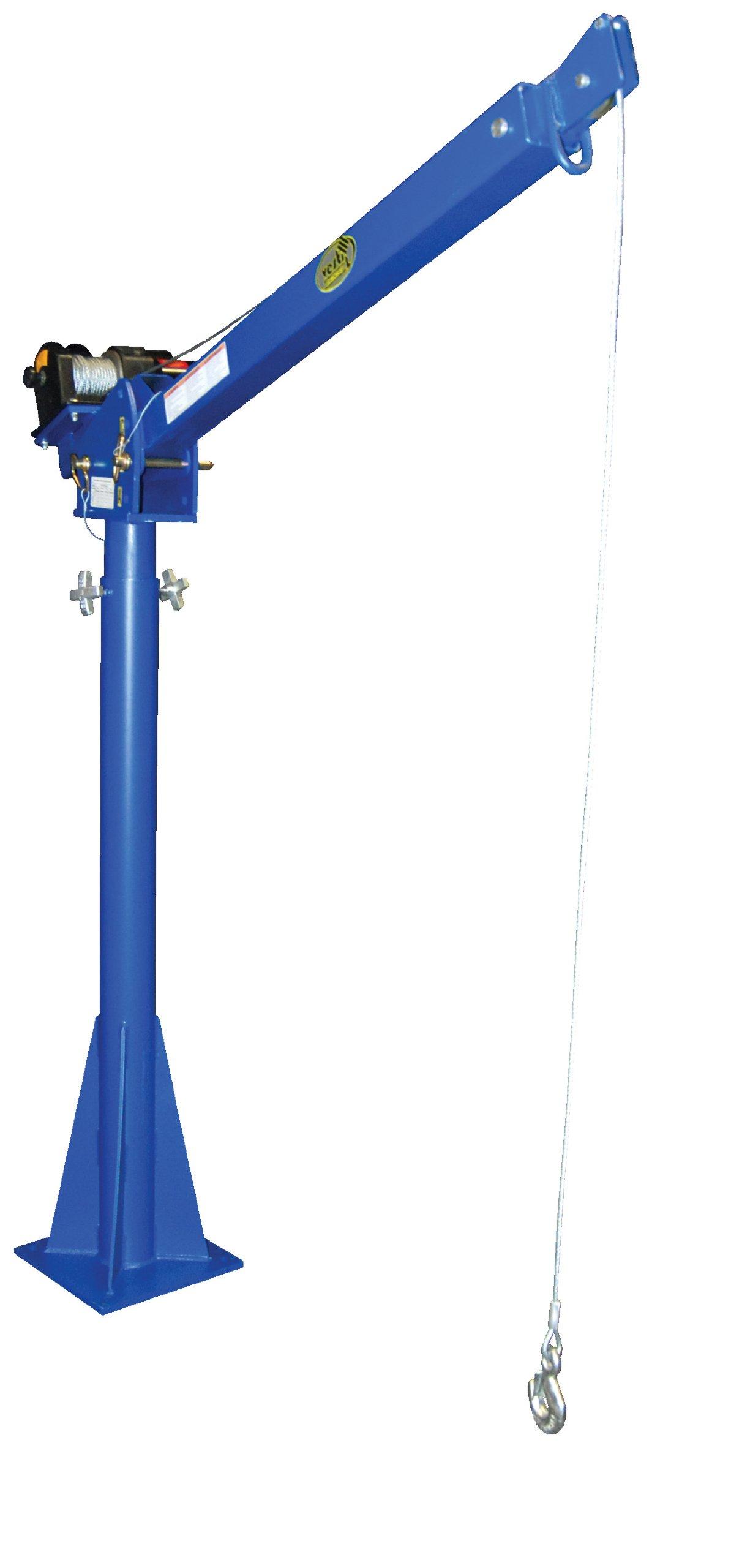 Vestil WTJ-20-4-DC 12V DC Power Lift Jib Crane, Steel, 2000 lb. Capacity, 46' Cable Length, 68-13/16'' Height