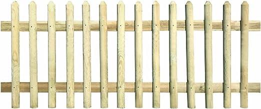 tiauant Bricolaje Vallas de jardín Paneles de Vallas Valla de Madera de Pino impregnada 170x120 cm 5/7cm vallasPostes de Media Cana y travesanos: Amazon.es: Jardín