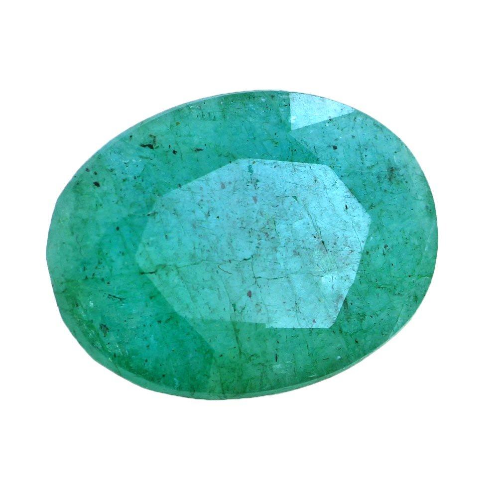 skyjewels Certified 14.25 Ratti Natural Green Panna Emerald Gemstone