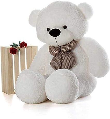 HUG n FEEL SOFT TOYS Long Soft Lovable hugable Cute Giant Life Size Teddy Bear (6 Feet, White)