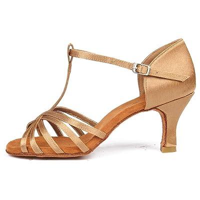 SWDZM Women's Standard Latin Dance Shoes Satin Ballroom Model-4030 | Ballet & Dance