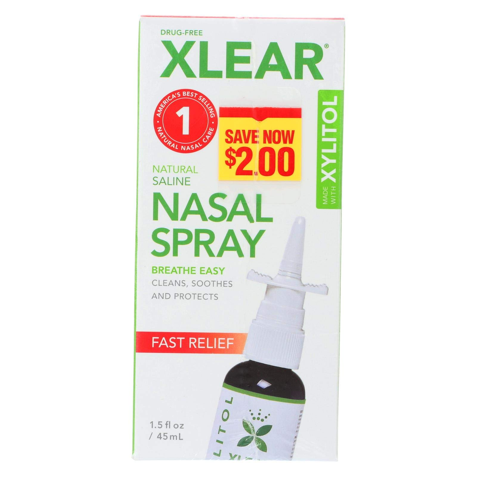 Xlear, Nasal Spray, Pack of 12, Size - 1.5 FZ, Quantity - 1 Case