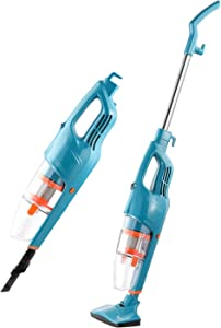 2 in 1 Vacuum Cleaner, Handheld Lightweight Vacuum Cleaner with 13kpa Strong Suction Corded Upright Stick Vacuum for Hard Floor Car Pet Hair