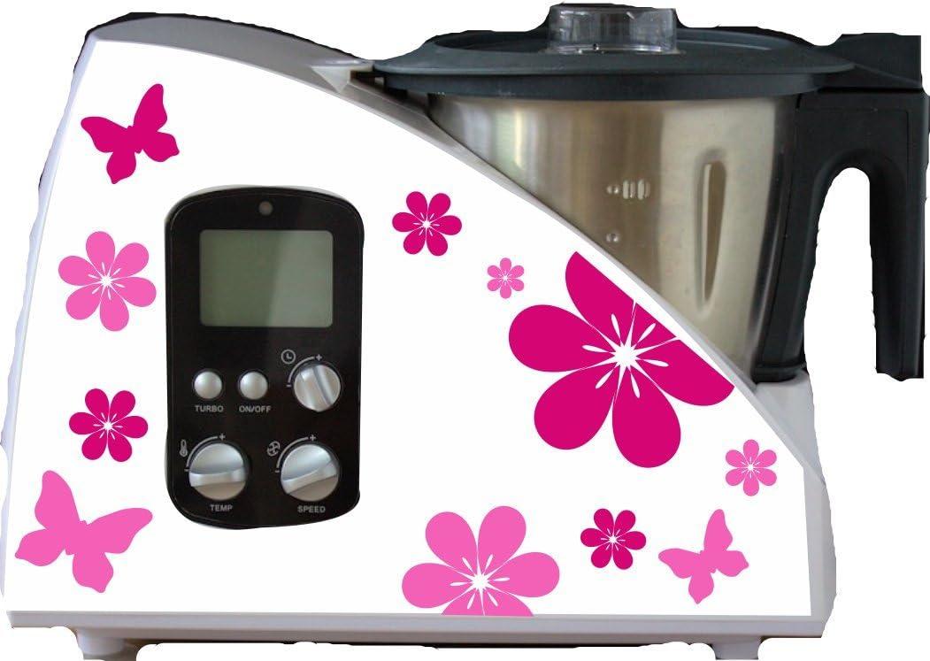 Robot de cocina pegatinas flores rosa para Monsieur Cuisine: Amazon.es