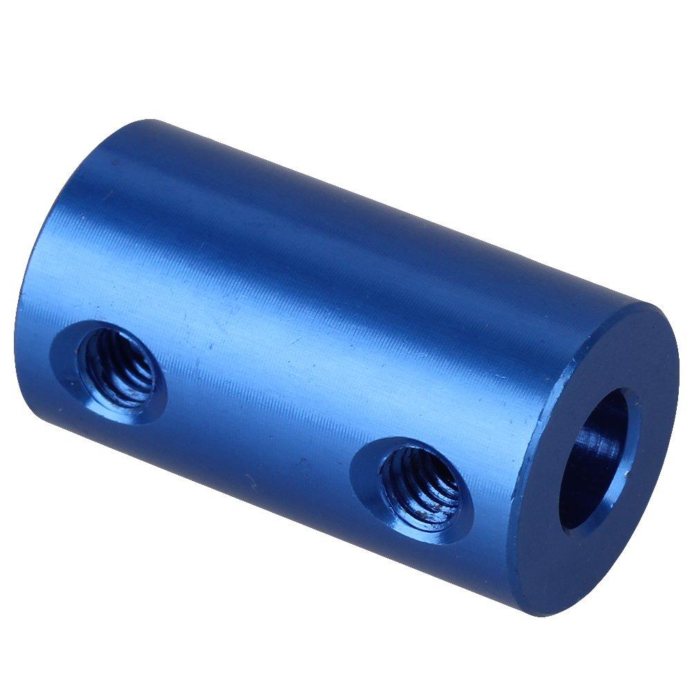 Mxfans 2 x 6mm-6mm Rigid Coupling Blue Aluminum Shaft Coupling Coupler Motor Hardware