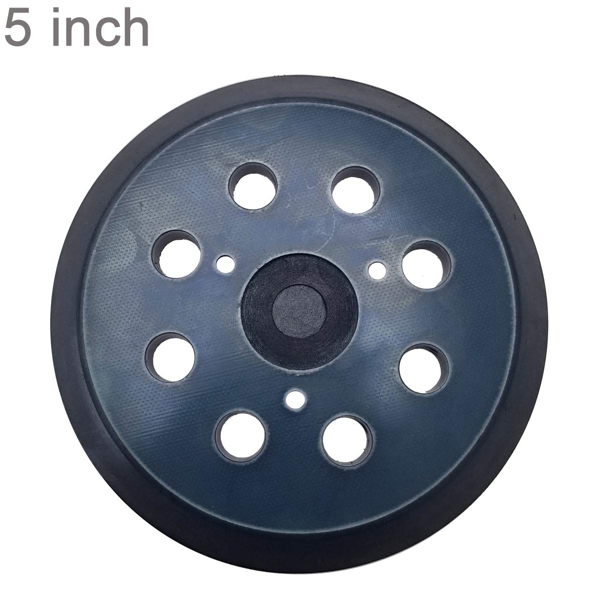 5 Inch 8 Hole Hook and Loop Sander Pad For DeWalt , Makita , Porter Cable Orbital Sander - Fits DW421/K, DW423/K & BO5010, BO5030K, BO5031K, BO5041K & 390K 382 343 Replacement Sander Pad 61miVXHBUKL
