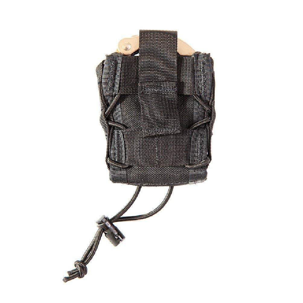 High Speed Gear MOLLE Mounted Handcuff Taco Pouch | Universal Handcuff Holster Fits Chain and Hinged Cuffs (Black) by High Speed Gear