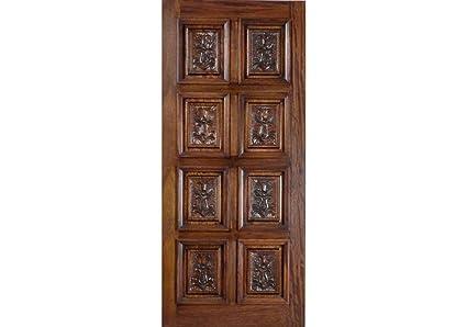 Eto Doors Montreal Exterior Mahogany Wood 8 Panel Hand Carved