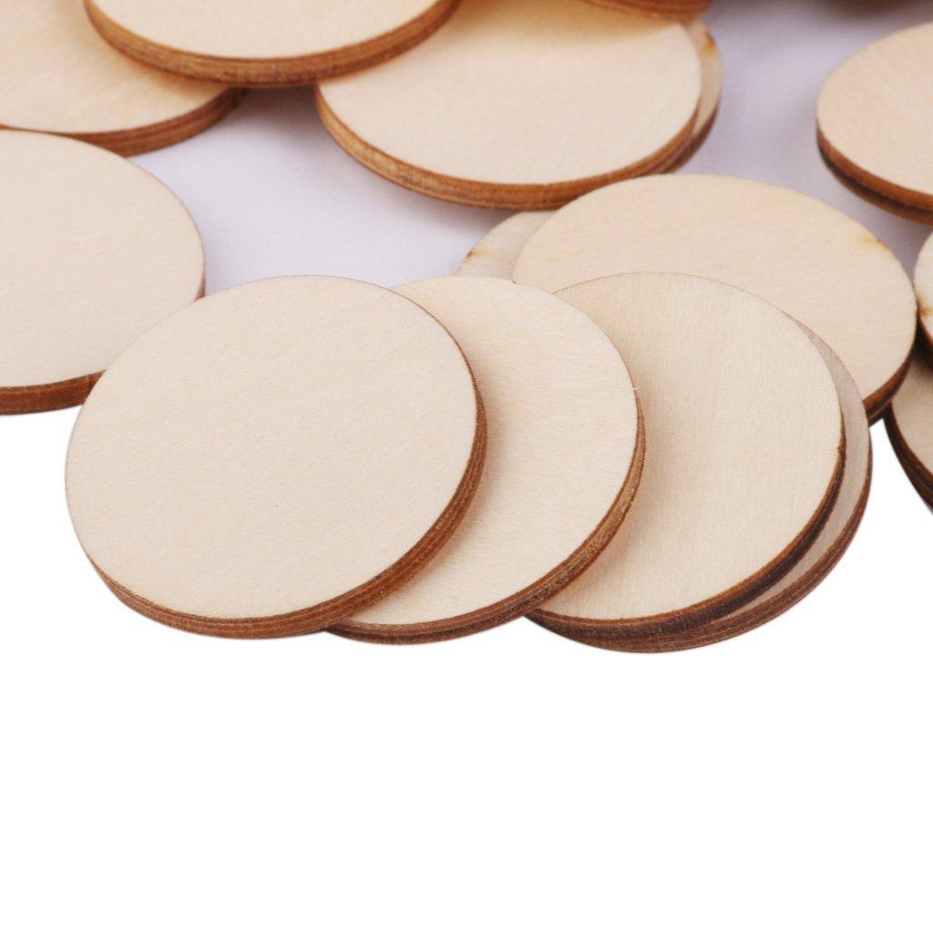 Etiquetas Manualidades Ornamentos Libros de Recortes 100pcs 10-50mm Mixed Sanmum Madera Manualidades Discos Cuadrados Rebanadas Sin Acabado para Sus Decoraciones